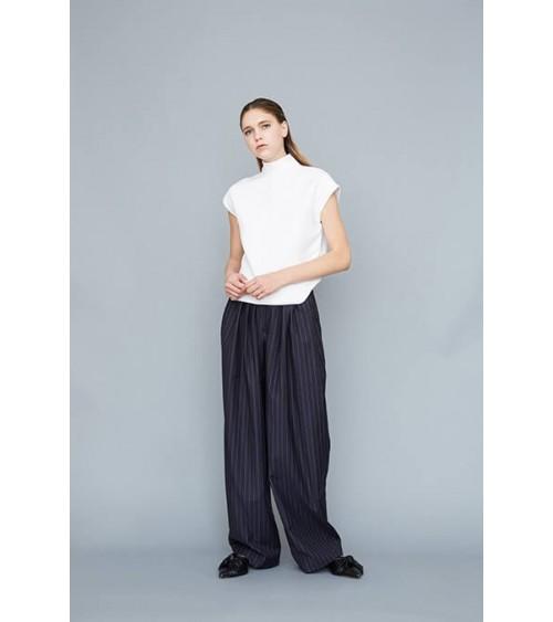 Pantalon ample à plis