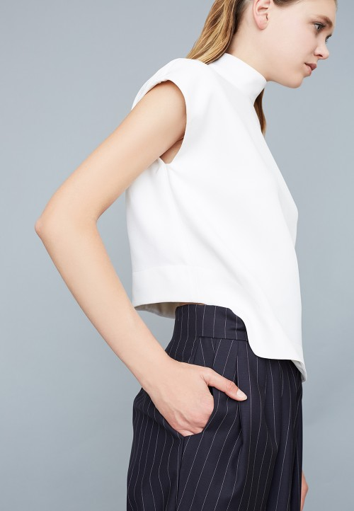 Top whit kimono short sleeve