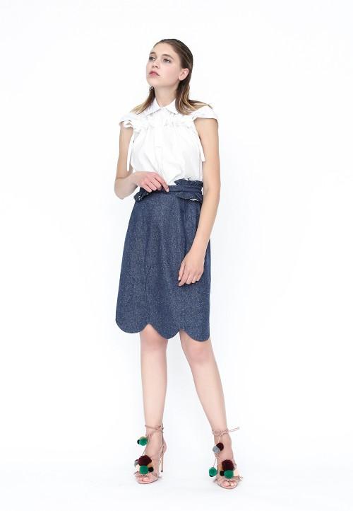 Kimono froncé, manche courte