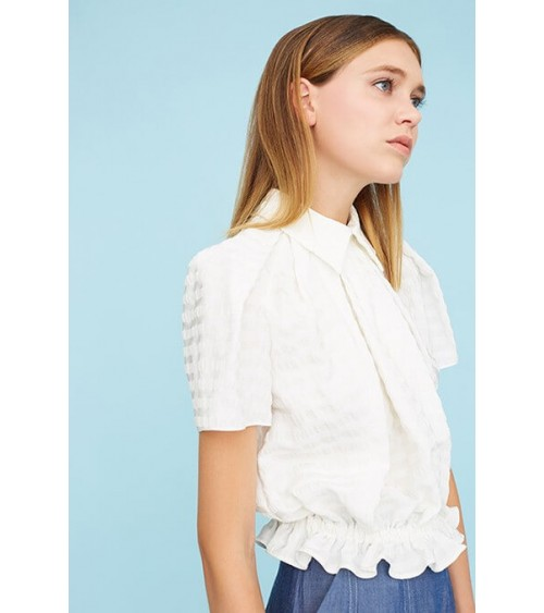 Le 600 - Blouse with box pleats and elasticated waist
