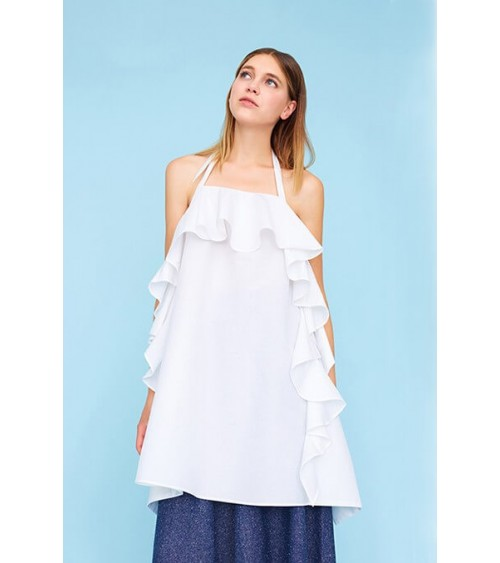 Le 909 - Backless frilled dress