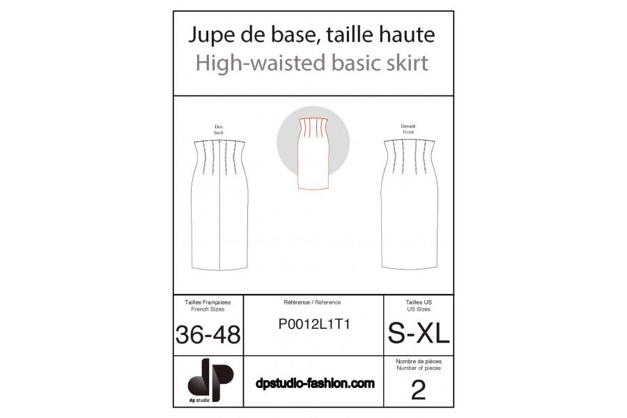 High-waisted skirt