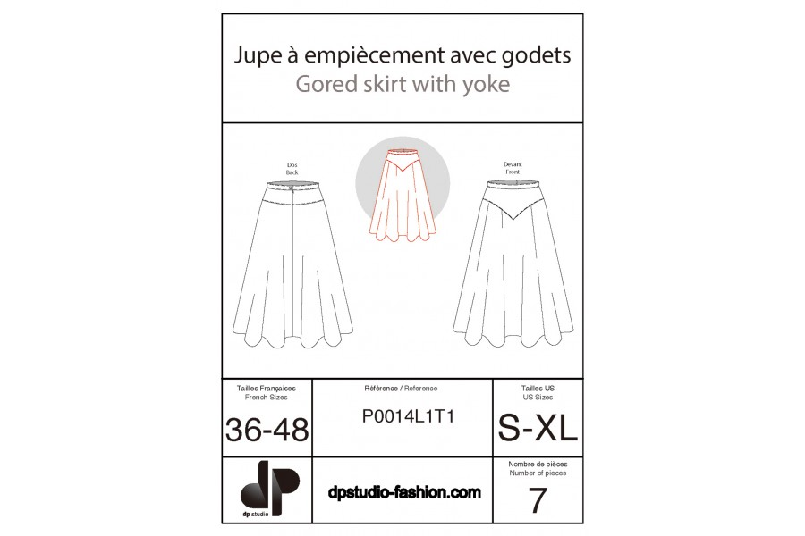 Skirts with yokes and godets