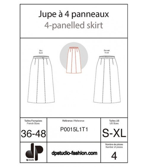 Four-panel skirt
