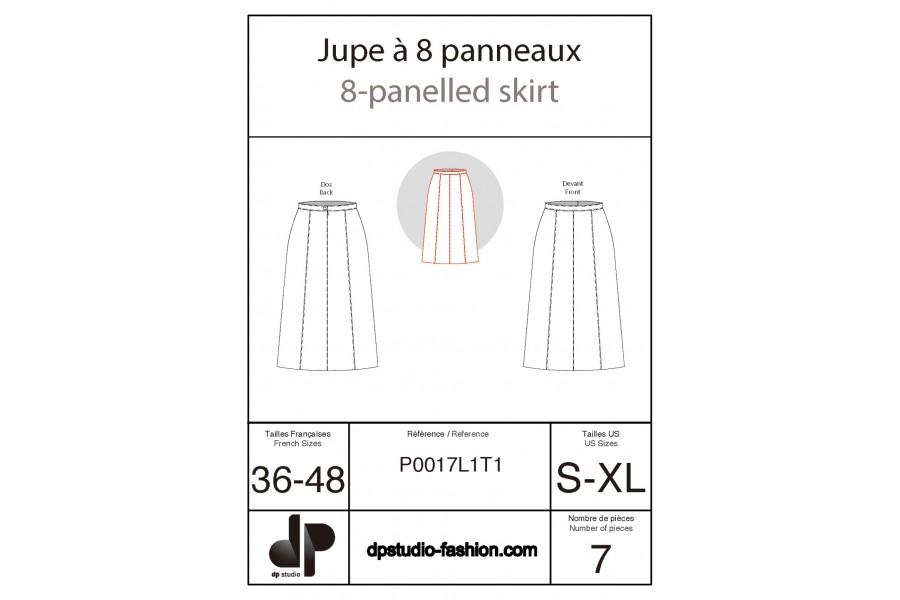 Eight-panel skirt