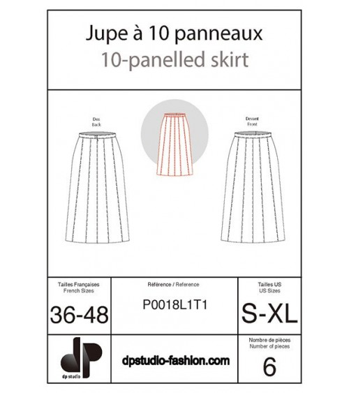Ten-panel skirt