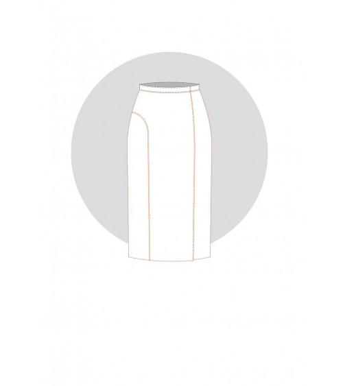 Jupe portefeuille à empiècement dos et plis couchés