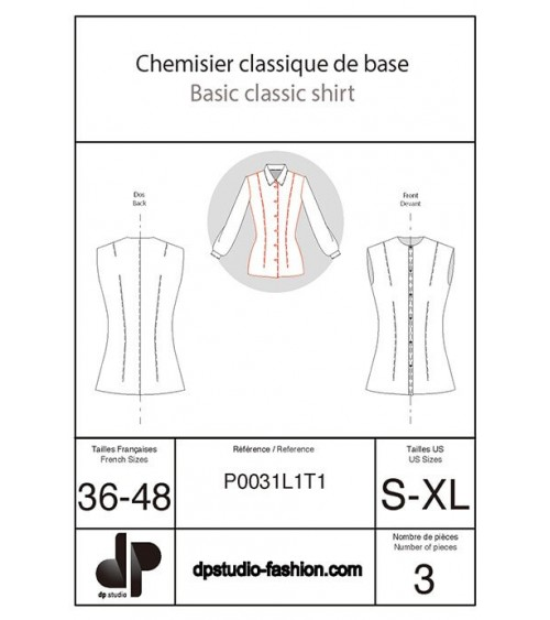 Classical blouse from the bodice base