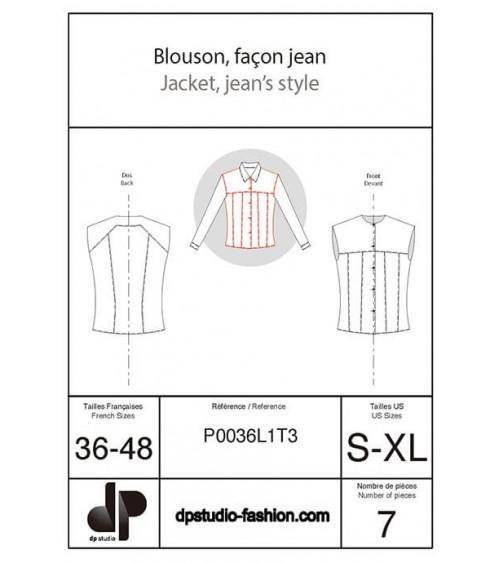Blouson, façon jean