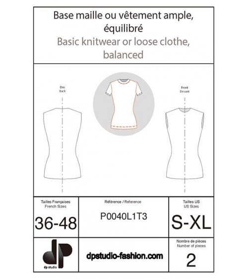 Base maille, ou vêtement ample, équilibrée