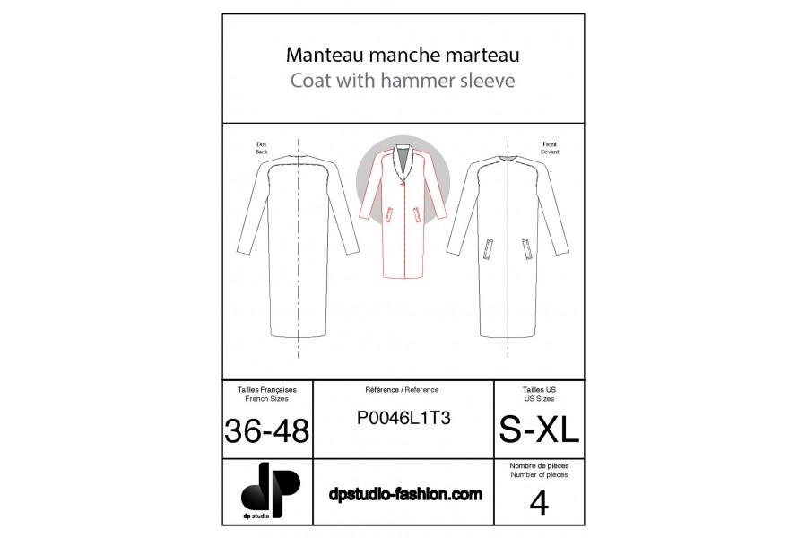 Coat with saddle sleeves
