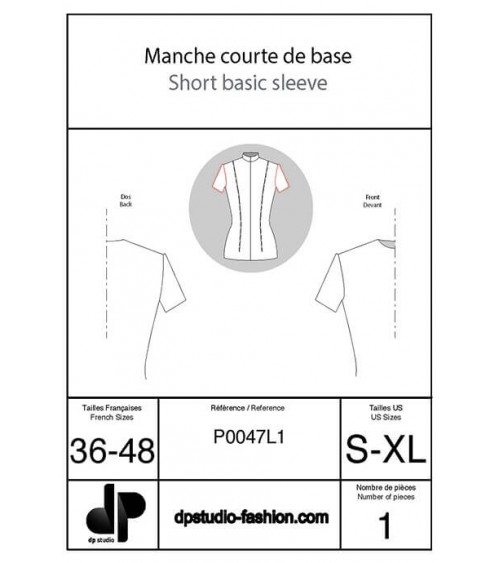 Short sleeve base pattern