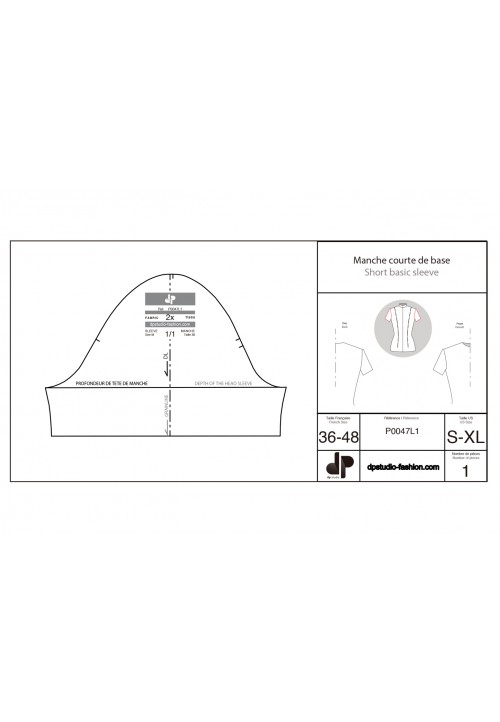 Short sleeve base pattern