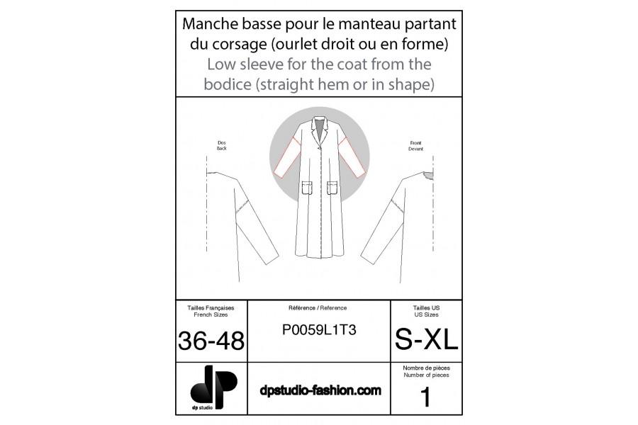 Manche basse ( pour manteau partant du corsage de base )