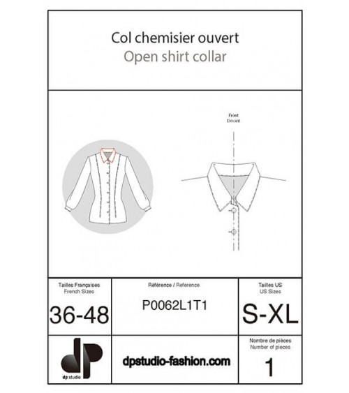Col chemisier ouvert