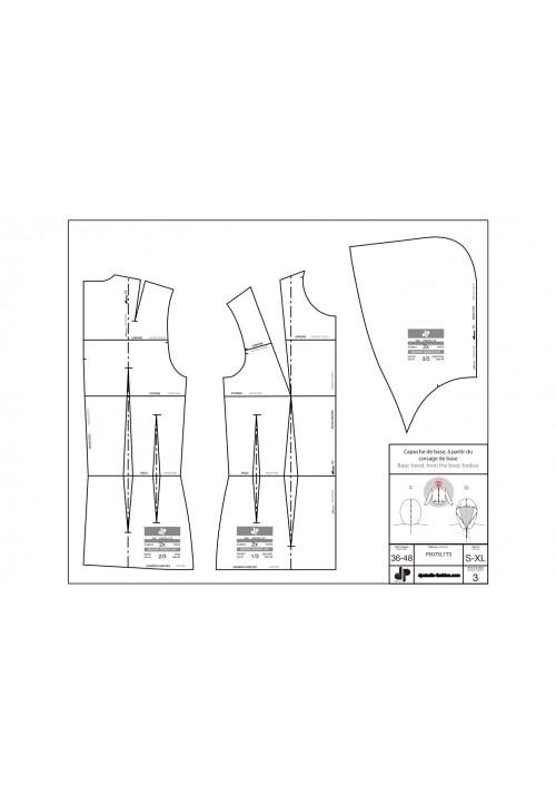 Basic hood using the bodice base pattern