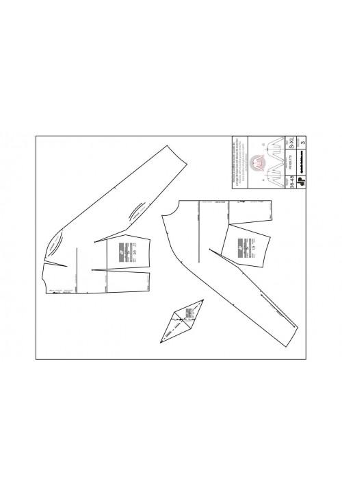 Kimono sleeve with inset gusset (bodice base pattern)