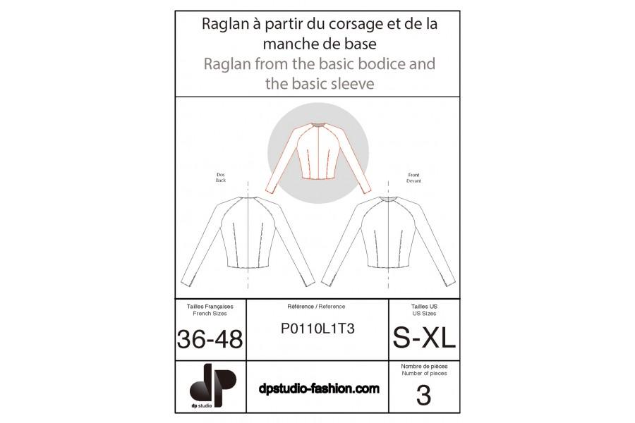 Raglan, à partir du corsage et de la manche de base
