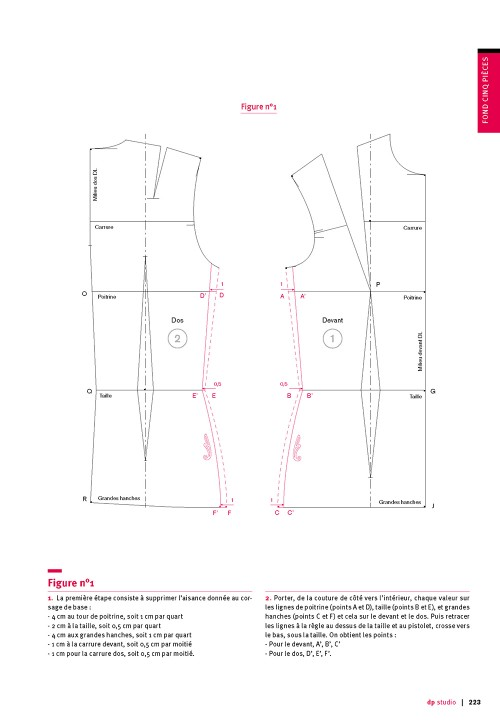 Five piece bodice