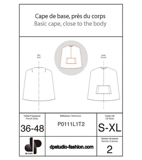 Close-fitting cape