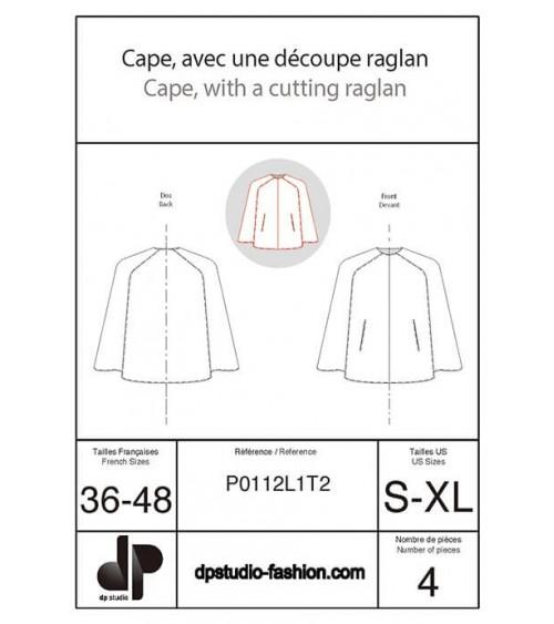 Cape with raglan seams