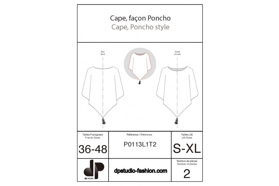 Poncho-style cape