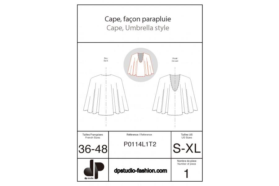 Cape, façon parapluie