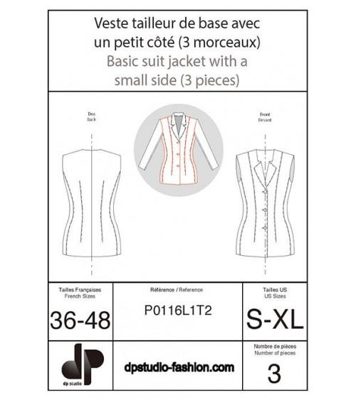 Veste tailleur de base, avec un petit côté ( 3 morceaux )