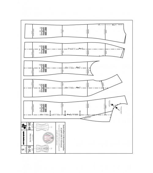Veste tailleur, à découpes bretelles et petit côté ( 5 morceaux )