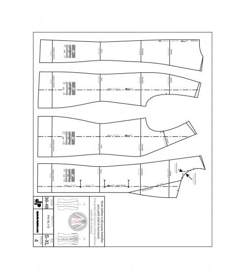 Veste tailleur, à découpes bretelles, sans petit côté ( 4 morceaux )