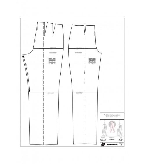Pantalon classique de base ( une pince devant, deux pinces dos )