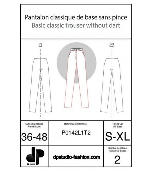 Pantalon classique de base, sans pince ( plus sportwear )