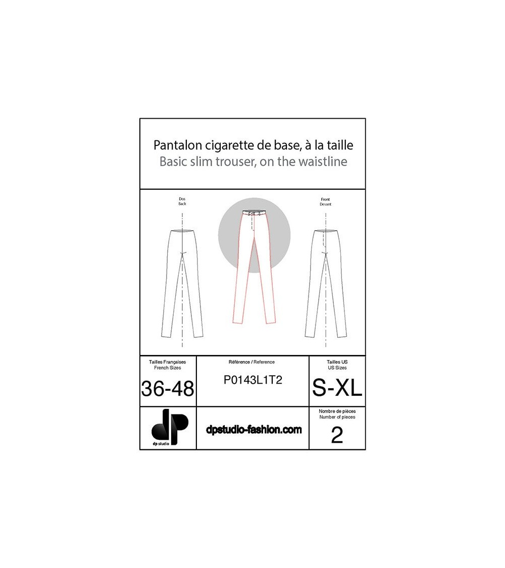 Pantalon cigarette de base, à la taille ( slim )