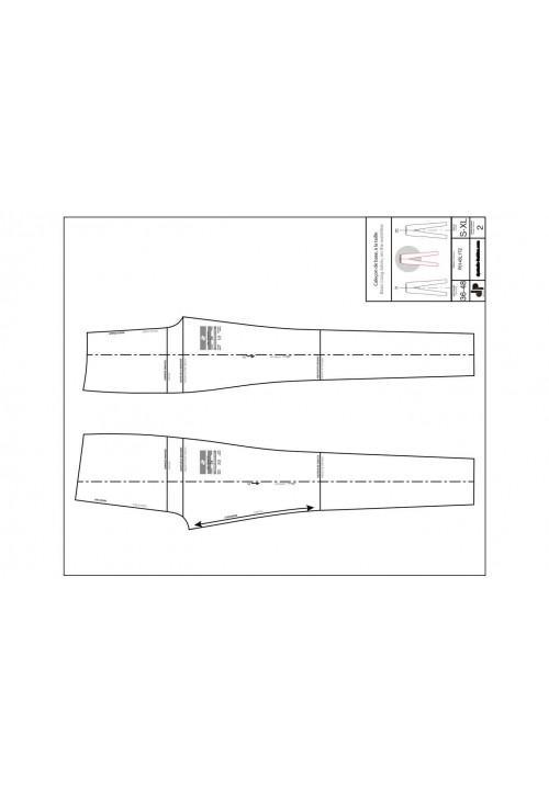 Leggings or skinny pants base pattern (on the waist)