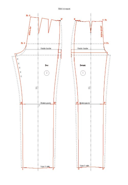 How to make a trouser base larger or narrower d'une base