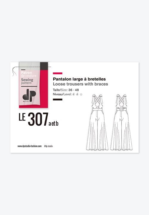 Le 307a et b - Pantalon large à bretelles