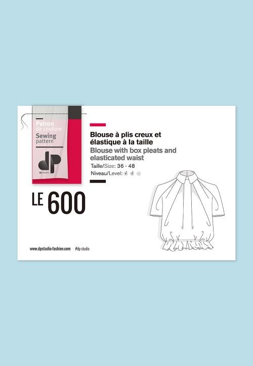 Le 600 Blouse à plis creux et élastique à la taille