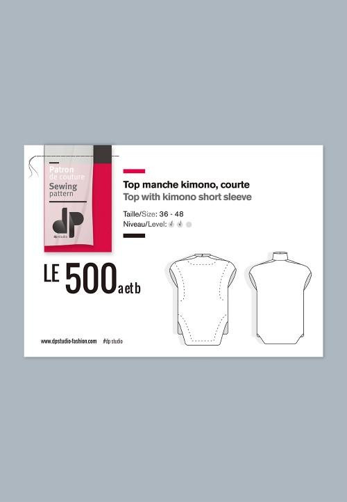 Le 500 Top manche kimono, courte