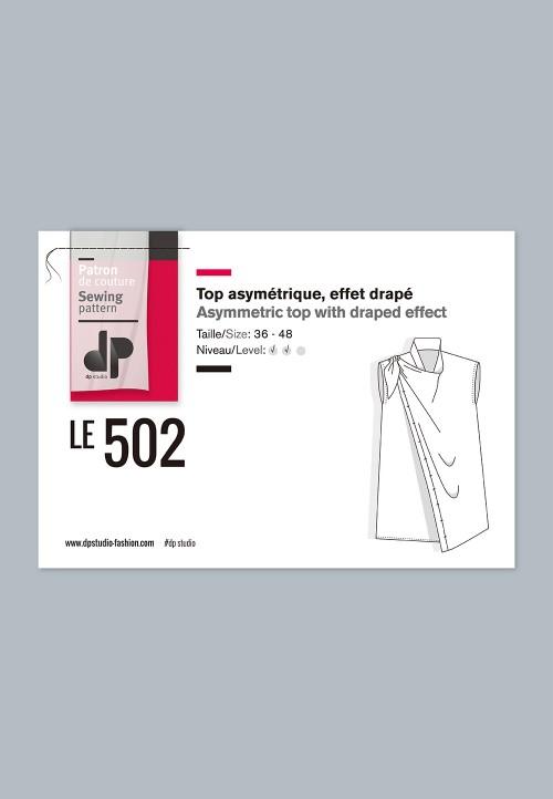 Le 502 - Asymmetric top with draped effact