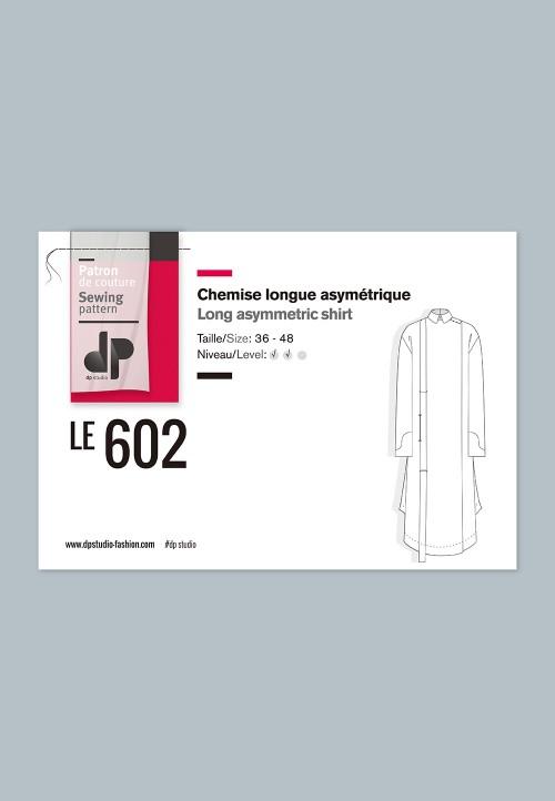 Le 602 - Chemise longue asymétrique
