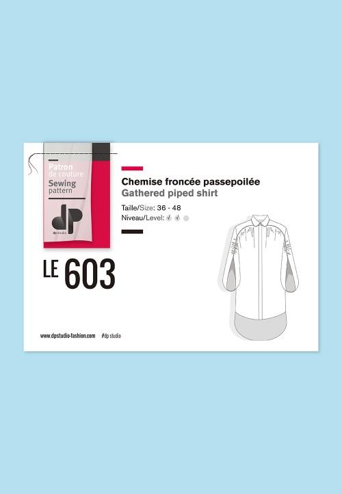Le 603 Chemise froncée passepoilée