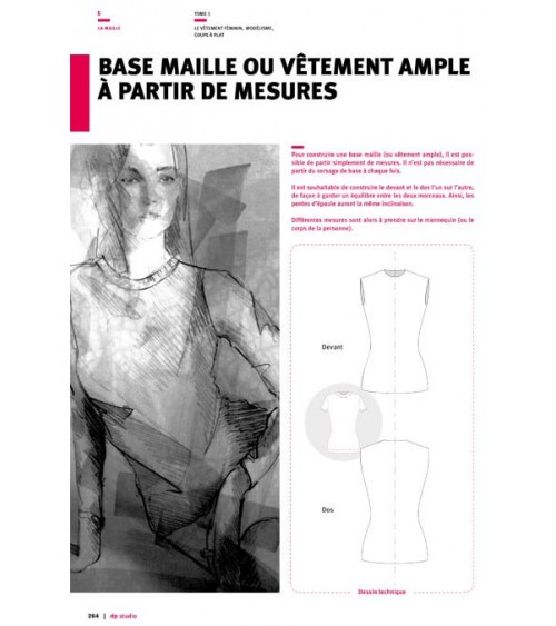 Base maille ou vêtement ample à partir de mesures