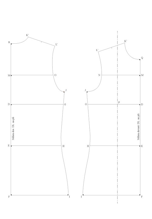 Knitwear or loose garment base using specific measurements