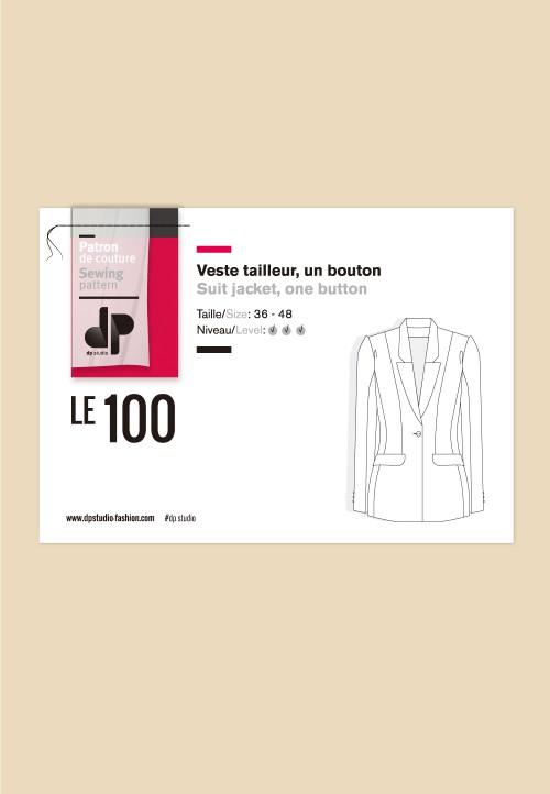 Le 100 Veste tailleur, un bouton