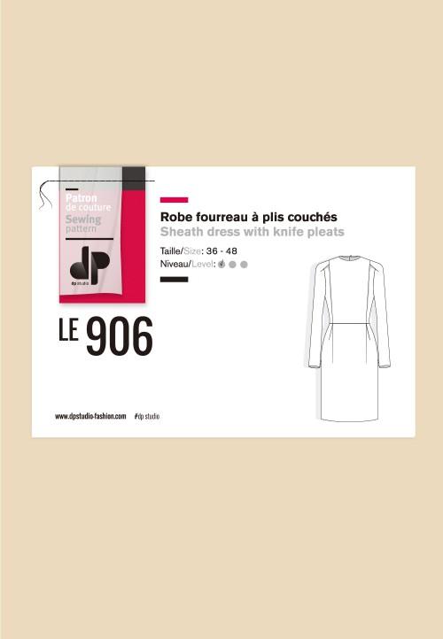 Le 906 - Robe fourreau à plis couchés