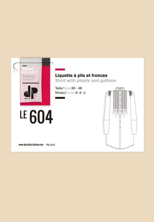 Le 604 - Liquette à plis et fronces
