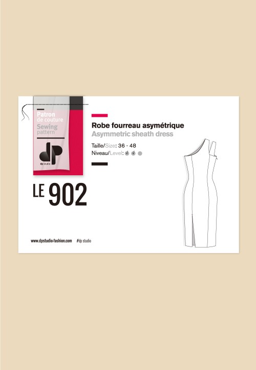 Le 902 - Robe fourreau asymétrique