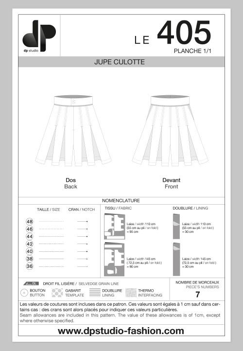 Le 405 Jupe culotte
