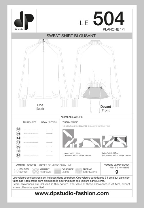 Loose sweat shirt