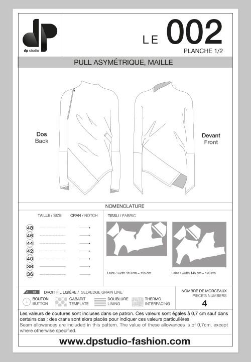 Le 002 - Pull asymétrique, maille